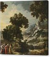 Nymphs Turning The Apulian Shepherd Into An Olive Tree Canvas Print