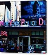 Nypd Time Square Canvas Print