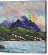 Oahu North Shore Rainbow Canvas Print