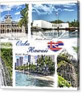 Oahu Postcard 2 Canvas Print