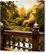 Oak Bridge Autumn Canvas Print