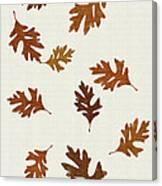 Oak Leaves Art Canvas Print