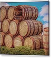 Oak Wine Barrels Canvas Print