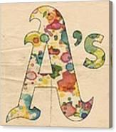 Oakland Athletics Logo Vintage Canvas Print