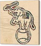 Oakland Athletics Poster Art Canvas Print