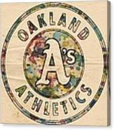 Oakland Athletics Poster Vintage Canvas Print