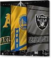 Oakland Sports Teams Canvas Print