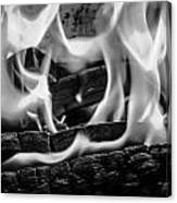 Oakwood Flames Canvas Print