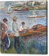 Oarsmen At Chatou Canvas Print