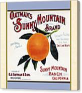 Oatmans Sunny Mountain Brand Oranges Vertical Canvas Print