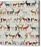 Oatmeal Spice Deer Canvas Print