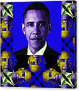 Obama Abstract Window 20130202verticalm118 Canvas Print