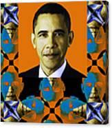Obama Abstract Window 20130202verticalp28 Canvas Print