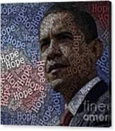 Obama Hope Typography Canvas Print