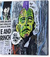 Obama The Grinch Canvas Print