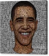 Obama Typography Text Art Canvas Print