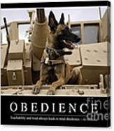 Obedience Inspirational Quote Canvas Print