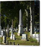 Obelisk And Headstones Canvas Print