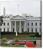 Obelisk And White House Canvas Print