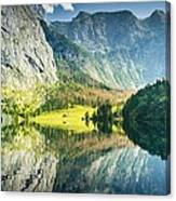 Obersee In Bavaria Canvas Print
