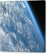Oblique Shot Of Earth Canvas Print