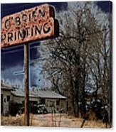 Obrien Printing Canvas Print