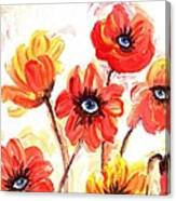 Observant Flowers 101 Canvas Print