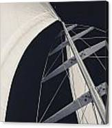 Obsession Sails 5 Black And White Canvas Print