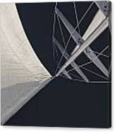 Obsession Sails 8 Black And White Canvas Print
