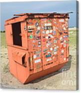 Obx Beach Dumpster Canvas Print