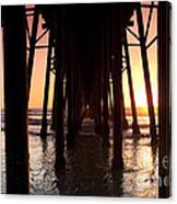 Oceanside Pier Tunnel Canvas Print