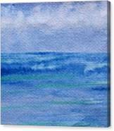 Gentle Ocean Waves -  Original Watercolor Canvas Print