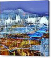 Ocean City Maryland At Night - Blue Canvas Print