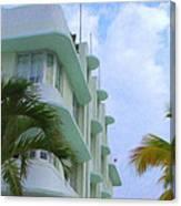 Ocean Drive Hotel Canvas Print