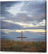 Ocean Grove Nj Beach Cross Canvas Print