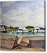Ocean Inlet Marina Canvas Print