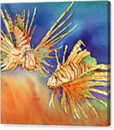Ocean Lions Canvas Print