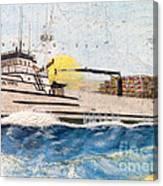 Ocean Olympic King Crab Fishing Boat Nautical Chart Map Art Canvas Print