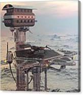 Ocean Refueling Platform Canvas Print