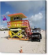 Ocean Rescue Miami Canvas Print