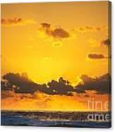 Ocean Sunrise Clouds Canvas Print