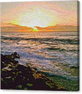 Ocean Sunset In San Diego Canvas Print
