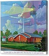 Ocean View Baptist Church Canvas Print