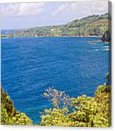 Ocean View From The Road To Hana, Maui Canvas Print