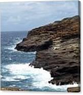 Ocean Vs. Rock Canvas Print