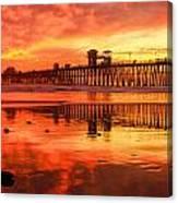 Oceanside Fire Canvas Print