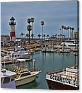 Oceanside Harbor Canvas Print