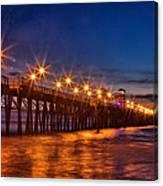 Oceanside Pier Evening Canvas Print