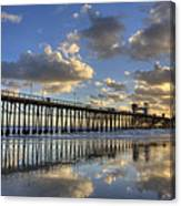Oceanside Pier Sunset Reflection Canvas Print