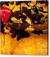 Ochre Wall Silk Lantern 02 Canvas Print